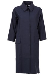 Yang Li Three Quarter Sleeve Coat Blue