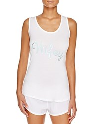 Pj Salvage Wifey Tank White