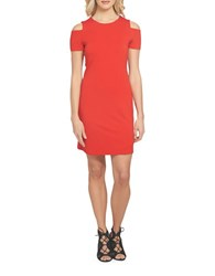 1.State Cold Shoulder Shift Dress Poppy Red