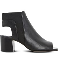 Dune Jericho Leather Ankle Boots Black Leather