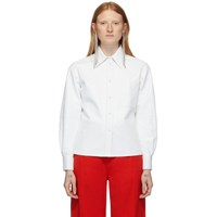 Ports 1961 White Leather Caban Shirt