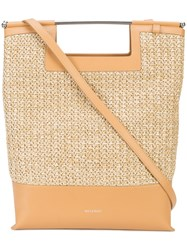 Delpozo Woven Tote Bag Brown