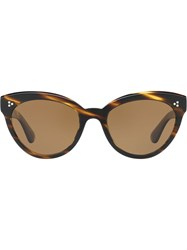 Oliver Peoples Roella Cat Eye Sunglasses Brown