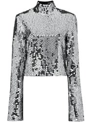 Filles A Papa Sequin Embellished Top With Bell Sleeves 60