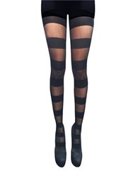 Zac Posen Stripe Patterned Tights Black