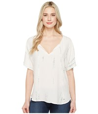 Michael Stars Naomi Wash Peasant Top Barely Pink Women's Clothing