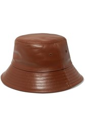 Burberry Leather Bucket Hat Tan