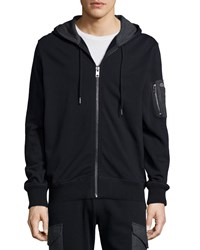 Diesel Full Zip Hooded Sweater Black