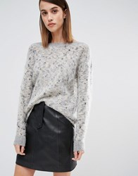 Selected Slected Tyra Knitted Jumper Grey