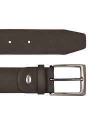 Manieri Men's Dark Brown Nubuk Belt