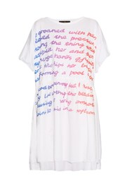 Vivienne Westwood Groan Tee Cotton Dress White