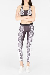 Monreal London Women S Reversible Floral Print Leggings Boutique1 Viola Prnt