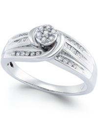 No Vendor Diamond Swirl Promise Ring 1 4 Ct. T.W. In Sterling Silver