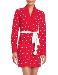 Betsey Johnson Sweater Robe Red