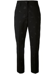 Golden Goose Deluxe Brand Printed Chinos Women Cotton Cupro Virgin Wool M Black