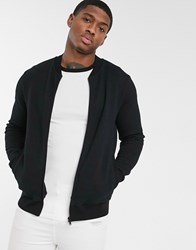 Burton Menswear Quilted Bomber In Black