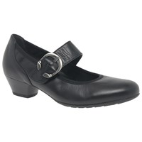 Gabor Ousby Extra Wide Fit Court Shoes Black