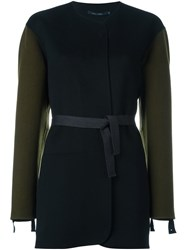 Sofie D'hoore Belted Single Breasted Coat Black