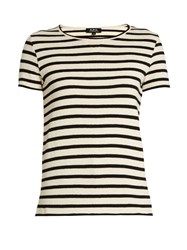 A.P.C. Lynn Striped Cotton T Shirt Navy White
