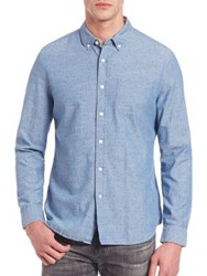 Ag Jeans Grady Dot Print Button Down Shirt Blue