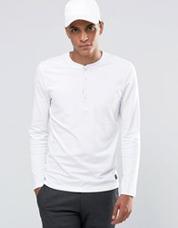 Selected Homme Grandad Long Sleeve Top White