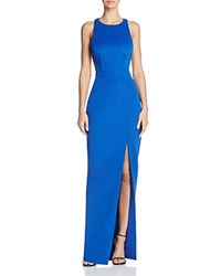 Bariano Lily Cage Back Gown Cobalt
