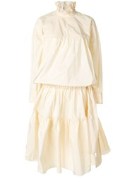 Kenzo Oversized Puffy Dress Polyester Nude Neutrals