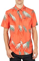 Volcom Men's Maui Palm Cotton Blend Woven Shirt