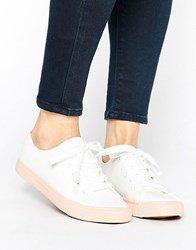 New Look Colour Block Canvas Trainer Light Pink