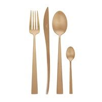 Cutipol Duna Matt Copper Cutlery Set 24 Piece