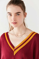 Urban Outfitters Simple Chain Necklace Set Charcoal