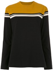 Osklen Long Sleeved Color Block Top Black