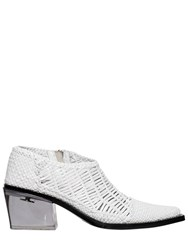 Alyx 40Mm Rodeo Woven Leather Ankle Boots