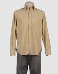Mason's Long Sleeve Shirts Beige