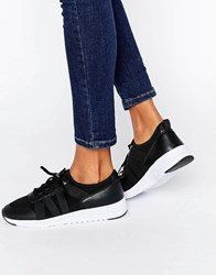 Missguided Elastic Strap Trainer Black