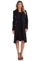 Nicholas Wool Double Breasted Coat Navy