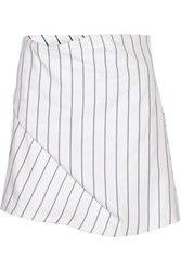 J.W.Anderson Striped Cotton Pique Skirt Blue