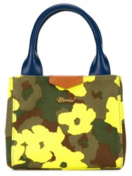 Muveil Mini Floral Camouflage Print Tote Multicolour