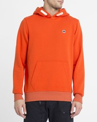 G Star Orange Core Chest Logo Hooded Sweatshirt