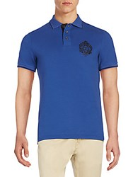 Just Cavalli Embroidered Logo Polo Shirt Blue