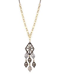 Lulu Frost Gloria Long Crystal Pendant Necklace Gold