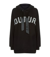 Forte Couture Oversized Hoodie Black