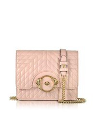 Roberto Cavalli Star Blush Quilted Nappa Leather Shoulder Bag Pink