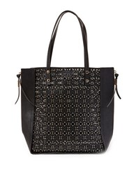 Steve Madden Perforated North South Tote Black