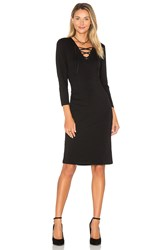 1.State Long Sleeve Lace Up Bodycon Dress Black