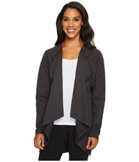 Lucy Light Hearted Wrap Black Heather Women's Sweater