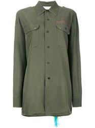 Forte Forte Embroidered Shirt Green