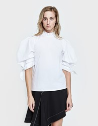Paper London Rose Top In White Cotton