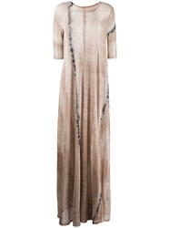 Raquel Allegra Tie Dye Maxi Dress Neutrals