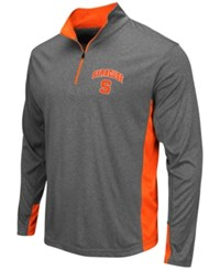 Colosseum Men's Syracuse Orange Ridge Runner Quarter Zip Pullover Gray